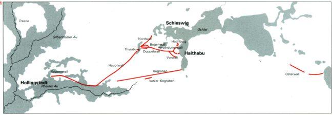 Haithabu Karte.Flohmarkt